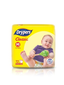 Drypers Classic Family Pack Medium 72's Pack of 4