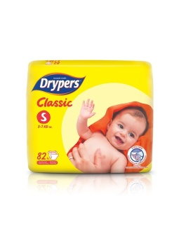 Drypers Classic Family Pack Small 82's Pack of 4