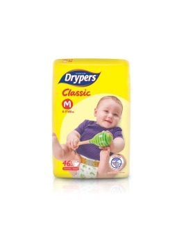 Drypers Classic Value Pack Medium 46's Pack of 5
