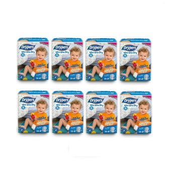 Drypers Wee Wee Dry Diapers Regular Pack XL 16's Pack of 8