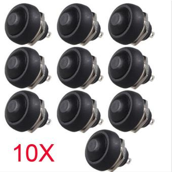 Durable 10pcs 12mm Waterproof momentary ON/OFF Push button MiniRound Switch - intl - 2