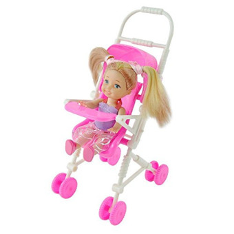 E-TING Baby Infant Carriage Stroller For Kelly Doll Barbie Plastic Furniture