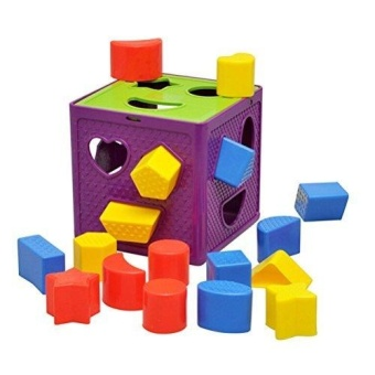 Early Childhood Learning Baby Toys Activity Cube-Plastic Geometric Square Shape Sorter Cube, Color Recognition Intelligence Toys Bricks / Toys Brocks - intl