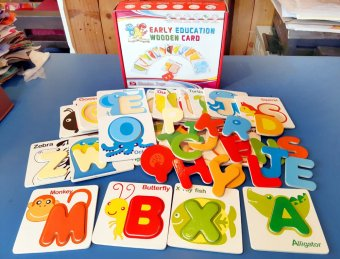 Early Education Wooden Alphabet Card Puzzle for Kids