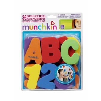 Educational Learning Toy Munchkin Letters and Numbers Bath BabyAlphabet Wall Sticker