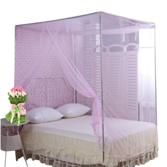 Encryption Nets 1.5 m Bed Student Dormitory Mosquito Nets PartyPink - intl Price Philippines