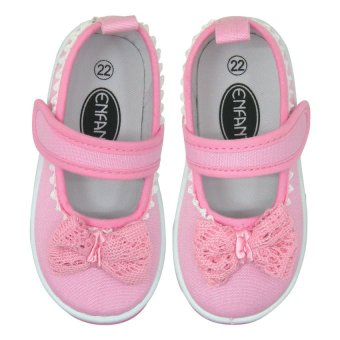 Enfant Baby Doll Shoes Pink Bow (Pink) - picture 2