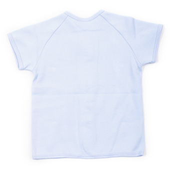 Enfant Shirt With 4 Buttons Down Short Sleeves (Blue) - picture 2