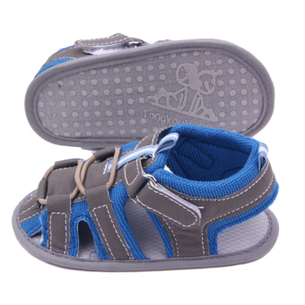 Eozy Baby Prewalker Shoes Cotton Infant Toddler Newborn SandalsFirst Walkers Boys Girls Shoe (Blue) - 3