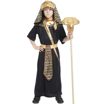EOZY Boys Halloween Costumes Ancient Egypt Egyptian Pharaoh Cosplay Kids Photography Stage Performance Clothing -L