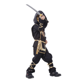 EOZY Classic Halloween Costumes Cosplay Costume Martial Arts Ninja Costumes For Kids Fancy Party Decoration -XL (Black) - Intl