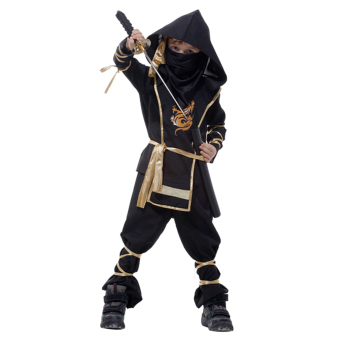 EOZY Classic Halloween Costumes Cosplay Costume Martial Arts Ninja Costumes For Kids Fancy Party Decoration -XL (Black) - Intl - 5