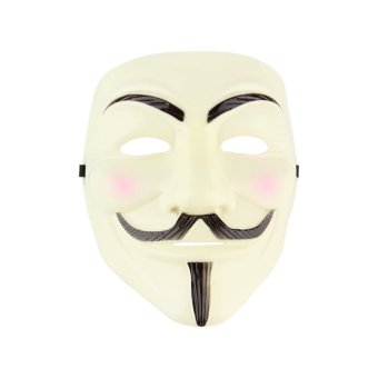 ERA V for Vendetta Anonymous Movie Adult Men Mask Halloween CostumeCool Yellow
