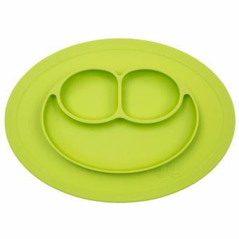 EZPZ Mini Mat (Lime) Silicone Placemat + Plate