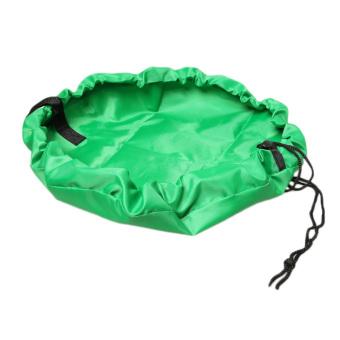 Fancyqube Portable Toy Mat Kids 45cm Large Storage Bags Toys Organizer Blanket Rug Box Green