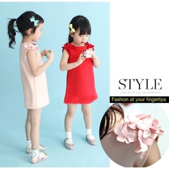 Fashion Girl's Dress Cotton Lovely Summer Dress For 2-7 Years Old Children - Pink - intl - 3