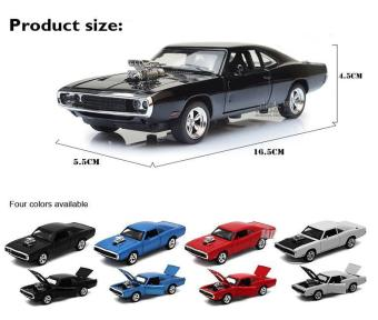 Fast & Furious 7 Dodge Charger Pull Back Toy Cars 1:32 Scale Alloy Diecast Car Model Kids Toys Collection Gift - intl - 3