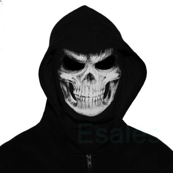 FD Cosplay Skull Balaclava Ghost Mask Hood Face Biker CS Halloween - 5