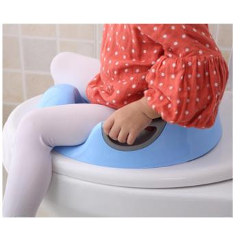 Fengsheng Kids Toilet Seat Soft Cushion Seat with Handles CutePatterns Plastic Toilet Cover for Children Blue - intl - 3