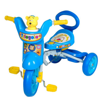 Foldable Children's Tricycle with Squeaky Horn (Blue)