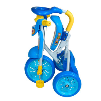 Foldable Children's Tricycle with Squeaky Horn (Blue) - picture 2