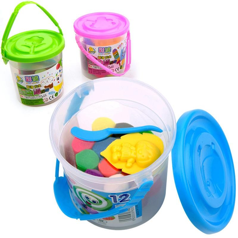 For you 12Pcs Mud Plasticine Play Clay Air Dry Magic PlaydoughPlay-doh .