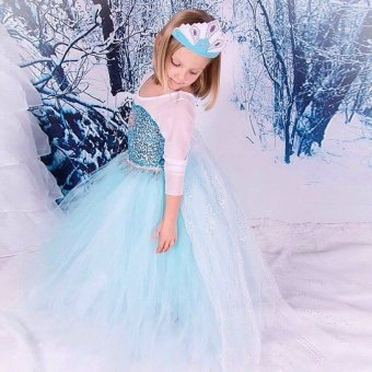 Frozen Princess Dress For Kids Cosplay and Christmas - intl