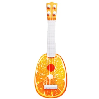 Funny Mini Fruit Style Kids Guitar Ukulele Toy Can Play Children Educational Learning Musical Instruments Toy Orange Style - intl