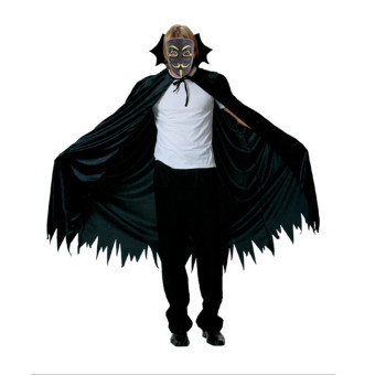 GAKTAI V for Vendetta Mask Anonymous Guy Fawkes Fancy Dress FancyCostume Ccosplay (Black) - Intl - 3
