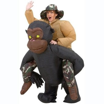 GDS Inflatable Gorilla Fan-Operated Adult Fancy Dress / Party/Halloween / Costume Airblwon Cosplay Outfit Jumpsuit - intl