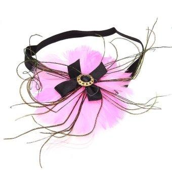 Generic Baby Girls Head Band Hairband Hair (Pink / Black) - Intl