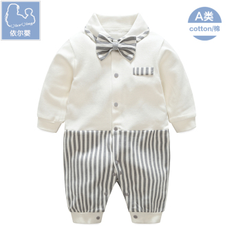 Gentleman cotton baby one-piece dress