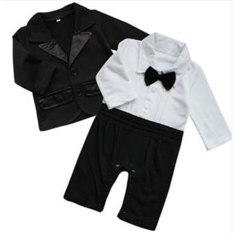 Gentlemen Suit Romper with Coat (Black) For Baby 18 to 24 MonthsOld - 4