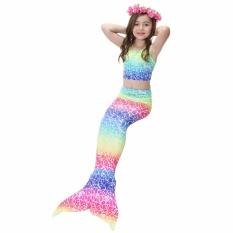 GETEK 2017 Kids Girls Swimmable Mermaid Tail Swimsuit BikiniSwimwear Swimming Costume Size:150 - intl