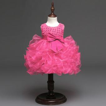 Gir Sleeveless Dress (Rose Red) - intl - 3