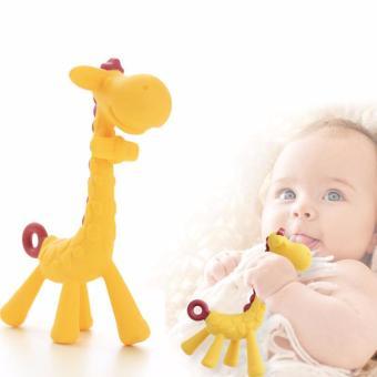 Giraffe Baby Soother Teether, Green - 3
