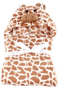 Giraffe Hooded Blanket (Brown) - picture 2