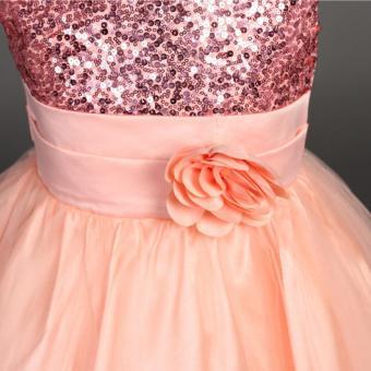 Girls Birthday Dress Cute Sequin Sleeveless Vest Princess LaceDress 10 color Baby Dresses For Girls Vestido - 3