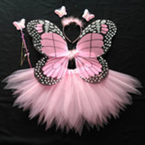 Girls Butterfly Fairy Costume with Wings Wand and Halo--Pink & Philippines | Girls Butterfly Fairy Costume with Wings Wand and ...