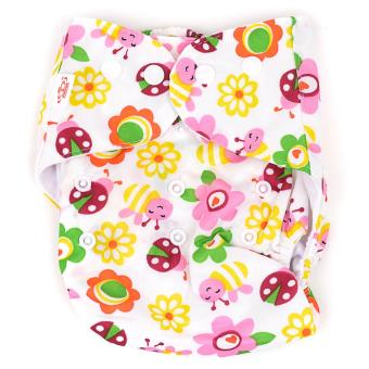 Girl's Cloth Diaper set of 2 with 2 Inserts - 2