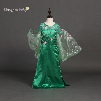 Girls Costume Princess Child Fancy Outfit Party Long Dresses - 3