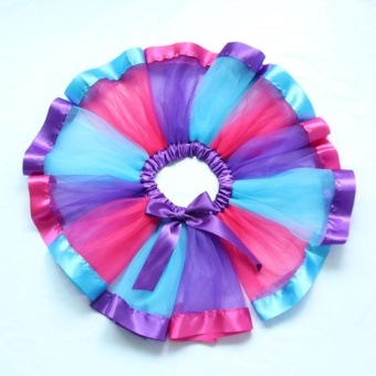 Girls Kids Baby Rainbow Tutu Skirt Party Costume Fancy TutuPettiskirt 2-4Y - intl