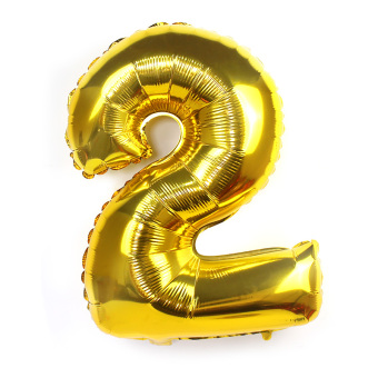Gold with numbers large anniversery party balloons aluminum balloons