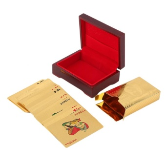 GOOD Playing Cards 24k Gold Plated Full Poker Deck Pure Christmas GOOD Gold - intl - 4