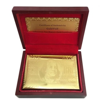 GOOD Playing Cards 24k Gold Plated Full Poker Deck Pure Christmas GOOD Gold - intl - 3