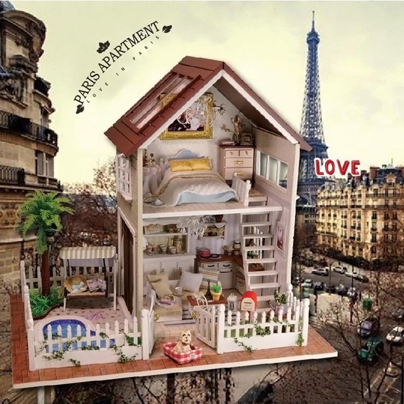 Gracefulvara Diy Wooden Doll House With