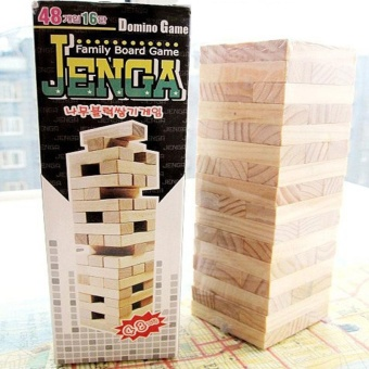 Great Fun 48PCS Jenga Classic Balance Board Game Kit Building Block Gift Kids Toys - intl - 2