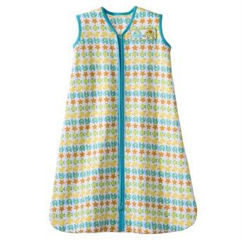 Halo SleepSack Cotton Small Wearable Blanket (Green Stripes)