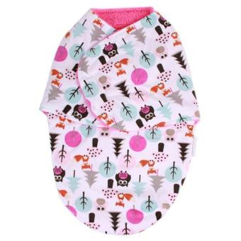 Hang-Qiao Infant Warm Swaddle Wrap Blanket Thicken Sleeping Bag For 0-6 Months (Pink)