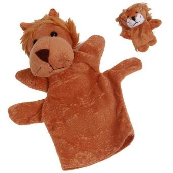 Hang-Qiao Kids Plush Animal Hand Puppets Lion Finger Toys Set Price Philippines